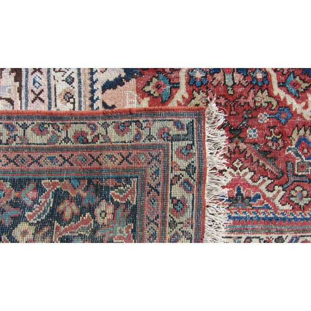 "Red and Blue Peshawar Area Rug - 13'1"" X 10' - Image 2 of 8"