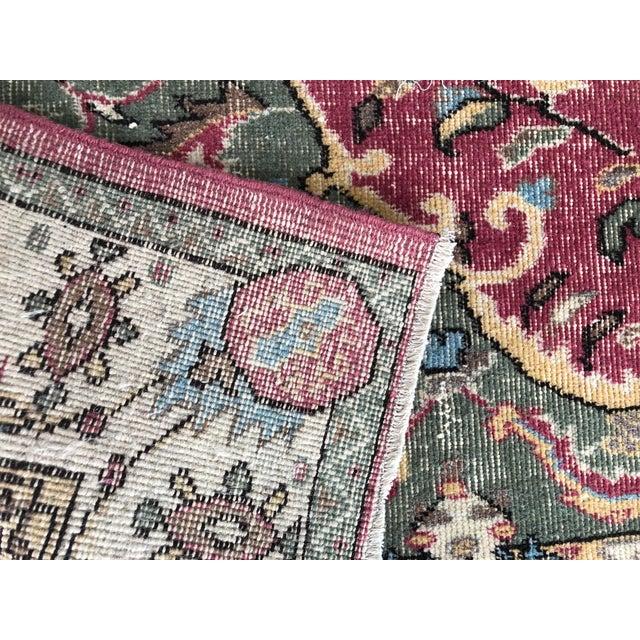 1970s Vintage Turkish Floral Area Rug - 6′2″ × 9′7″ For Sale - Image 4 of 11