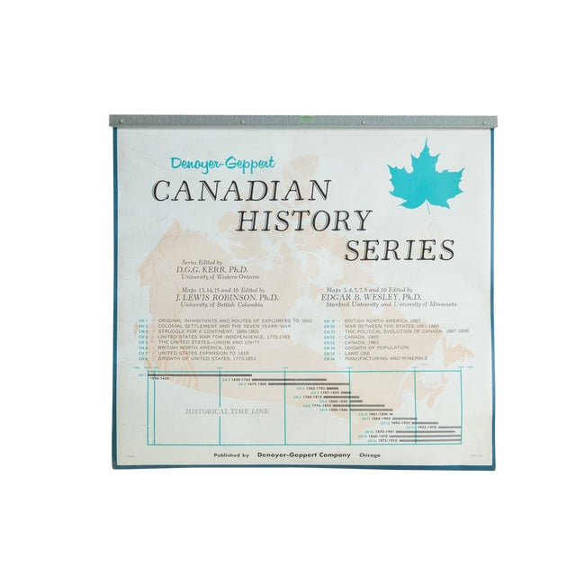 Vintage Denoyer-Geppert Canadian History Map Series | Chairish