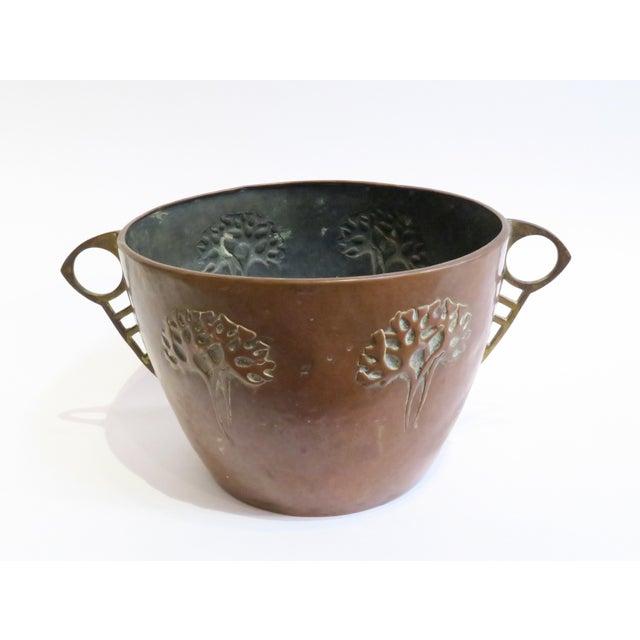 Primitive Vintage Hammered Copper Planter For Sale - Image 3 of 6