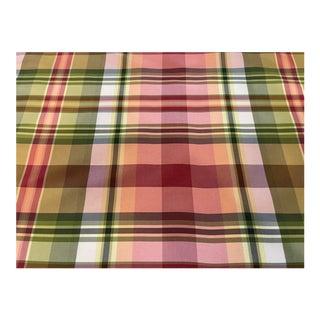 Scalamandre Silk Taffeta Plaid Fabric For Sale