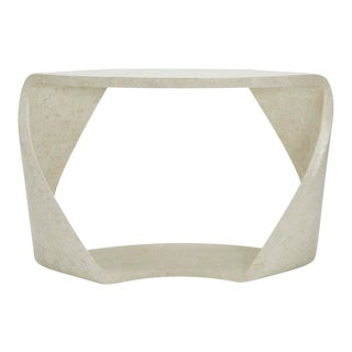 1990s Contemporary Tessellated Stone Twisted Console Table For Sale