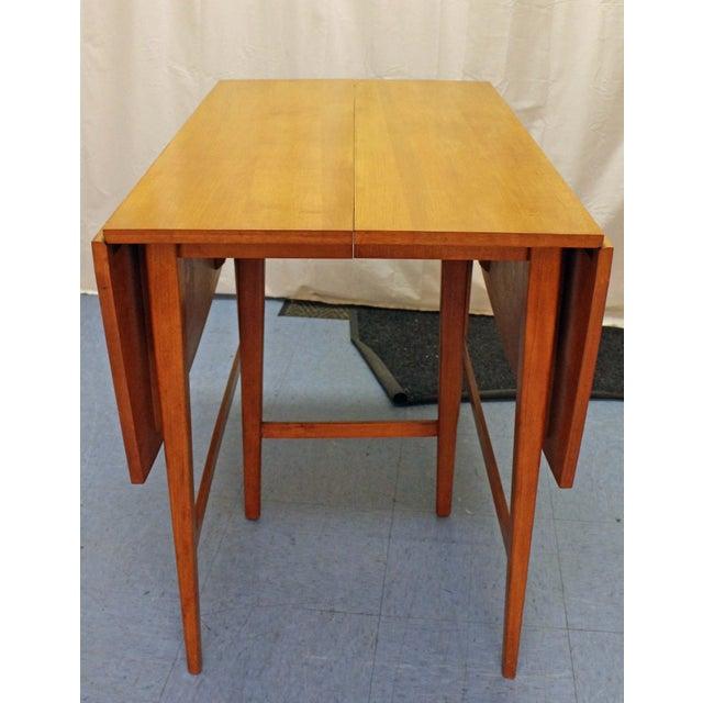 Danish Modern Mid-Century Modern Paul McCobb Planner Group Drop Leaf Dining Table For Sale - Image 3 of 12