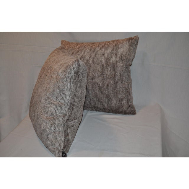Aviva Stanoff Faux Fur Pillows - Pair - Image 3 of 7