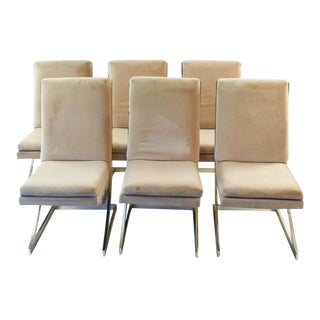 Milo Baughman Cantilever Dining Chairs - Set of 6