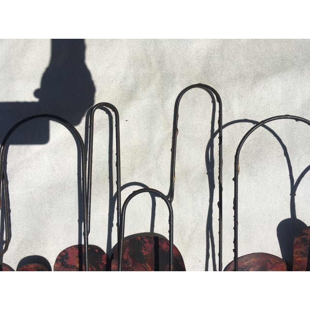1980s Large Cliff Hyink Abstract Organic Modern Enamel and Copper Wall Sculpture For Sale - Image 5 of 9