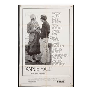 "Original vintage 1977 ""Annie Hall"" Woody Allen Diane Keaton film poster For Sale"