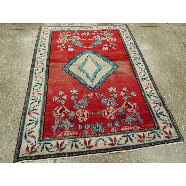 "Textile Vintage Persian Mahal Rug - Size: 3' 8"" X 5' 1"" For Sale - Image 7 of 10"