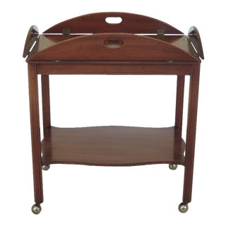 1970s Vintage Biggs Mahogany Butler Service Table For Sale