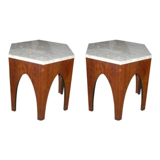 Harvey Probber Hexagonal Occasional Tables - a Pair For Sale