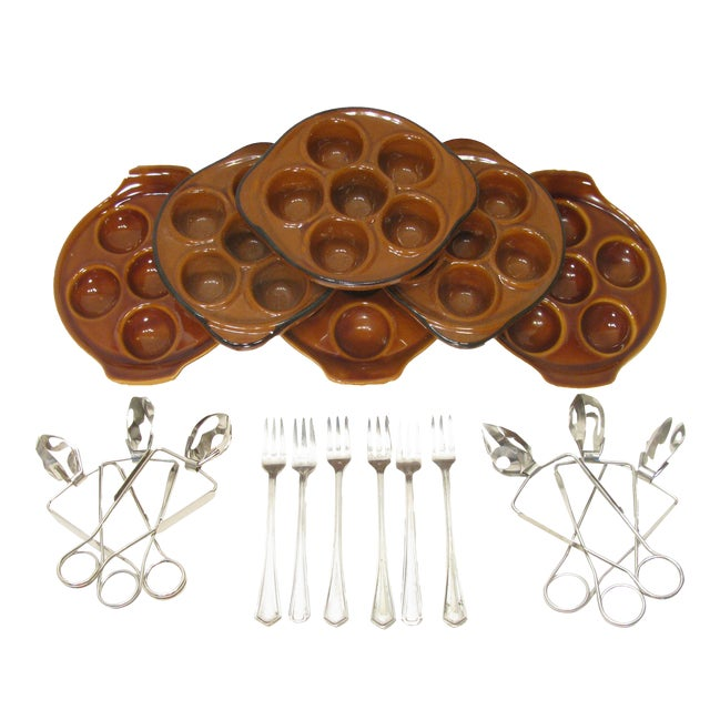 Vintage French Escargot Service - Set of18 For Sale