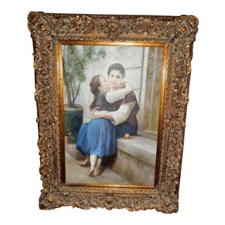 1970s Vintage Mother and Child Huge Replica Painting For Sale