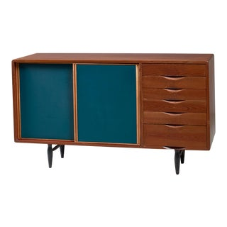 Rare sideboard by Ilmari Tapiovaara for Laukaan Puu, Finland, 1940s For Sale