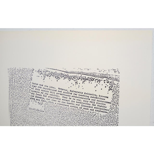 """Abstract John Link (American, B.1942) """"Untitled"""" Limited Edition Lithograph C.1973 For Sale - Image 3 of 8"""