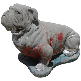 """Georgia Bulldog"" Concrete Sculpture For Sale"
