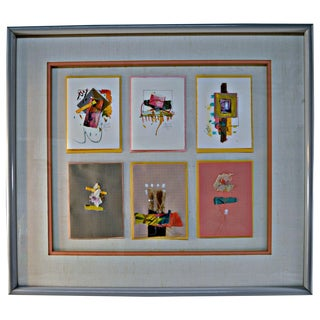 Jeanne Brady Vintage Handcrafted Cards Wall Art For Sale