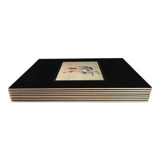 Large Ming Polo Wood Painted Placemats - Set of 8 For Sale