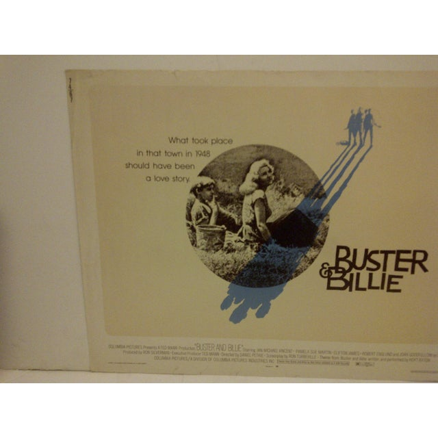 "Mid-Century Modern ""Buster & Billie"" Vintage Movie Poster 1974 For Sale - Image 3 of 5"