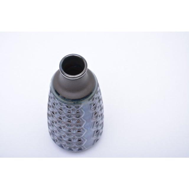 Blue Midcentury Danish Stoneware Vase by Einar Johansen for Soholm For Sale - Image 8 of 9