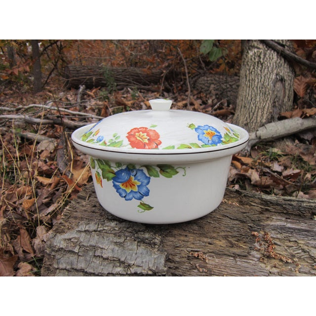 Columbia Chinaware Harker Floral Baking Casserole Dish / Canister For Sale - Image 4 of 10