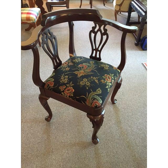 Vintage Ethan Allen Corner Chair - Image 2 of 5