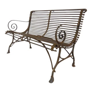1920's French Garden Bench For Sale