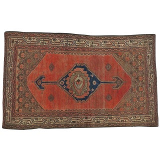 "Antique Persian Kurdish Distressed Rug - 3'5"" X 5'9"""