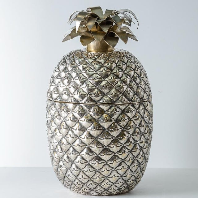 Fabulous Giant Pineapple Silver Box/Ice Bucket Portugal For Sale - Image 10 of 10