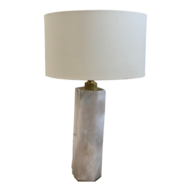Hexagonal Alabaster Table Lamp For Sale