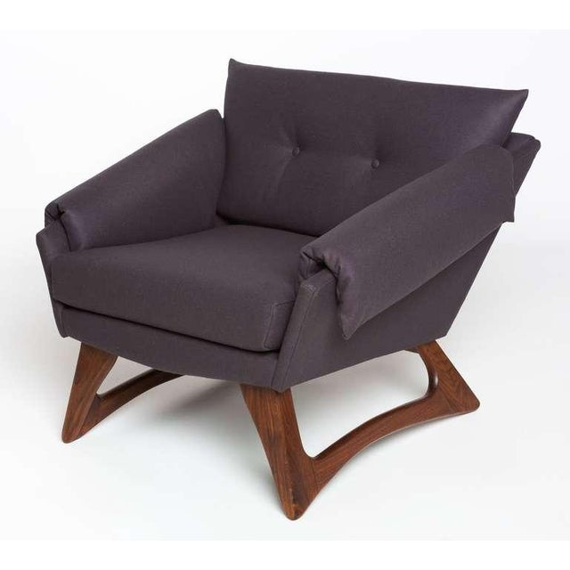 Adrian Pearsall lounge chair for Craft Associates with walnut base and new wool upholstery.