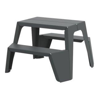 Small Rambler Picnic Table in Graphite For Sale