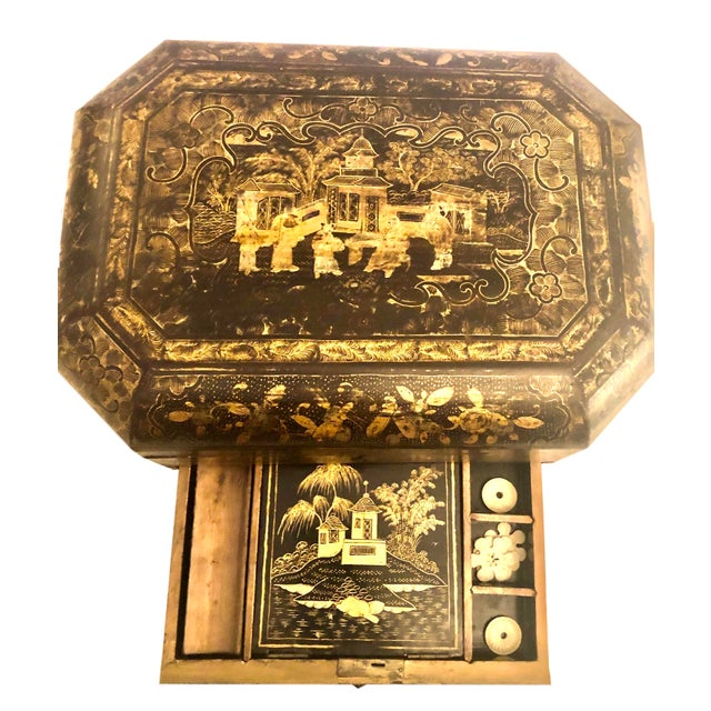 Chinese 19th Century Chinese Work Box For Sale - Image 3 of 6