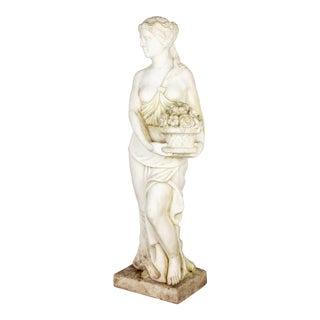 1900s Italian Marble Garden Statue For Sale