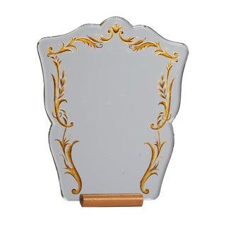 Scrolling Vanity Mirror on Oak Stand Circa 1930s