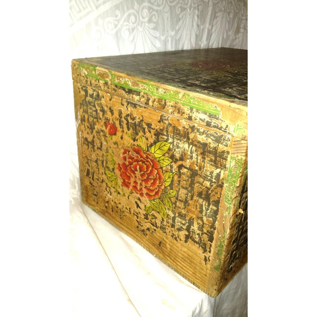 Green Lg. Victorian Fruit and Nut Delivery Box For Sale - Image 8 of 11