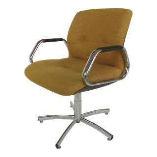 Steelcase Furniture Company Adjustable Swivel & Tilting Armchair (1982) For Sale