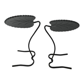 Salterni Black Lily Pad Tables - A Pair