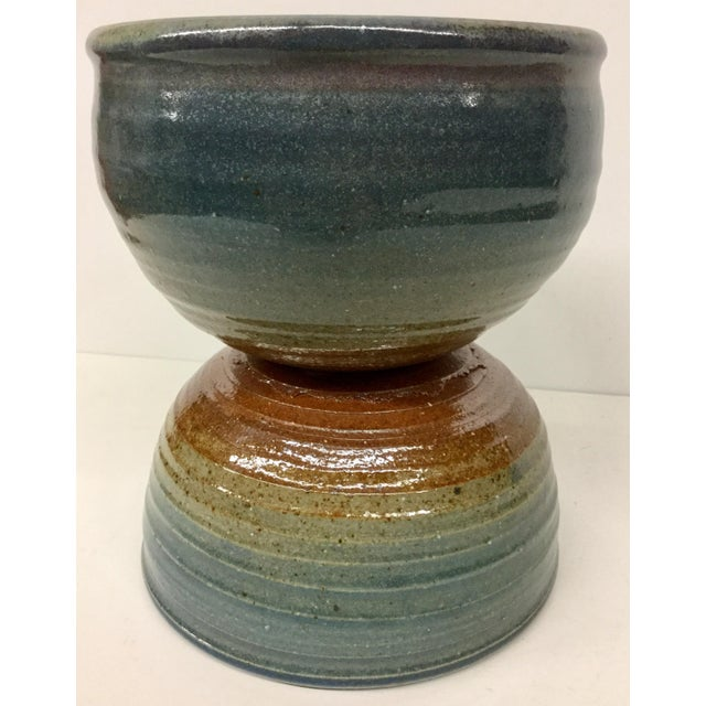 Vintage Hand Thrown Clay Bowls - A Pair For Sale - Image 9 of 13