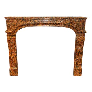 Danny Alessandro French Louis XIV Breche D'alep Marble Mantel