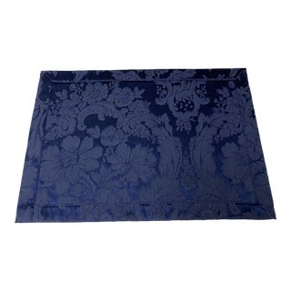 Vintage Waterford Navy Damask Placemats(4) For Sale
