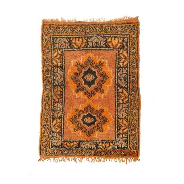 Orange Vintage Moroccan Rug - 1′2″ × 3′4″ For Sale - Image 8 of 8