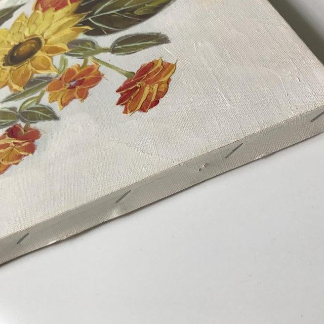 Paint Vintage Original Floral Painting For Sale - Image 7 of 10