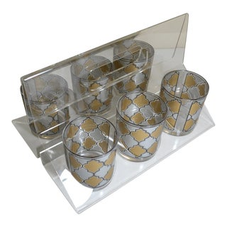 Mid-Century Modern h.j. Stotter Lucite/Acrylic Cocktail Glasses - Set of 6