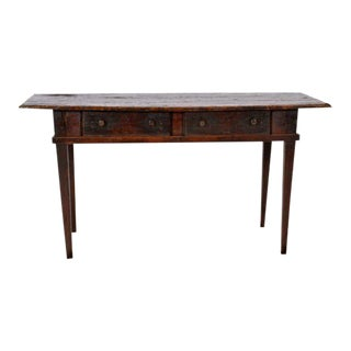 Antique Spanish Black Walnut Dining Kitchen Table For Sale