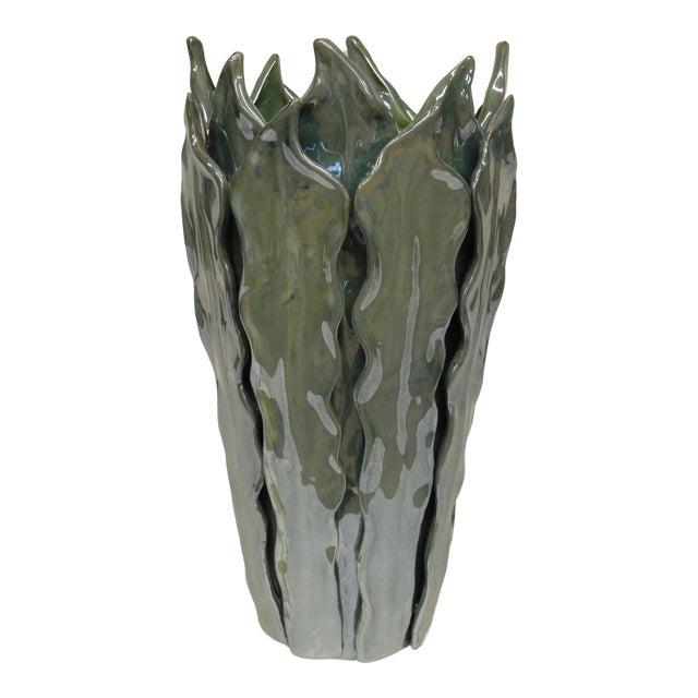 Contemporary Italian Art Ceramic Vase For Sale