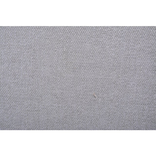 Brass Reupholstered Grey Midcentury Sofa by Gigi Radice for Minotti For Sale - Image 7 of 9