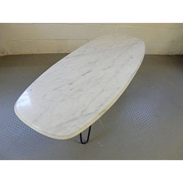 Vintage Mid Century Marble Surf Board Coffee Table With