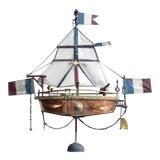 Image of 19th Century Votive Copper Sea Vessel For Sale