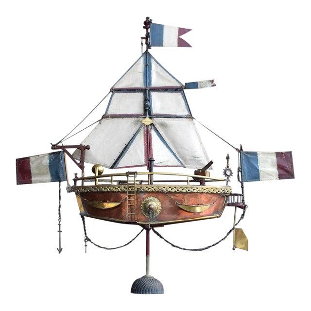19th Century Votive Copper Sea Vessel For Sale