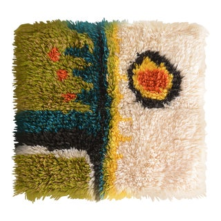 Mid Century Modern Latch Hook Textile Art For Sale